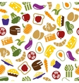 vegetarian meals seamless pattern vector image vector image