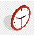 wall clock isometric icon vector image vector image