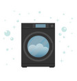 washing machine in flat style modern vector image vector image