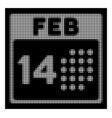 white halftone romantic valentine day icon vector image