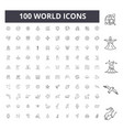 world line icons signs set outline vector image vector image