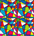 Colorful mosaic seamless with geometrical shapes vector image