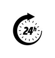 24 hours icon clock open time service or delivery