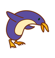 A penguin is standing vector image vector image