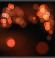 abstract background with orange bokeh defocused vector image vector image