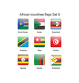 African countries flags set 6 vector image vector image