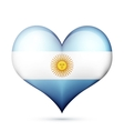 Argentina Heart flag icon vector image vector image