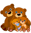 Bear family vector | Price: 3 Credits (USD $3)