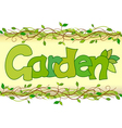 beautiful image of the word garden vector image vector image
