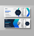 business banner design in blue theme vector image vector image