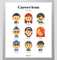 career icon flat pack vector image vector image