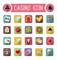 casino flat icons slot machine vector image