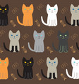 cat breed collection vector image