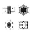 circuit board of icon design set vector image
