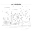 City buildings graphic template UK London vector image