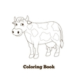 Coloring book cow cartoon educational vector image vector image