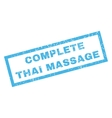 Complete Thai Massage Rubber Stamp vector image vector image
