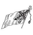 confederate national flag - no 3 vintage vector image vector image