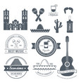 country mexico label template of emblem element vector image