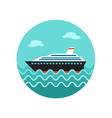 Cruise transatlantic liner ship icon Vacation vector image vector image