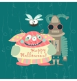 Cute colorful monsters vector image vector image