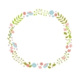 Cute floral wreath Design for birthday card or vector image