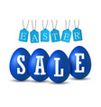 easter egg text sale happy eggs 3d vector image