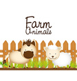 farm animals design vector image vector image