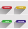 Flat web buttons set vector image vector image