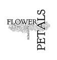 flower petals text background word cloud concept vector image vector image