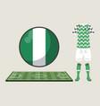 football nigeria sport wear vector image vector image