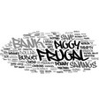 frugal word cloud concept vector image vector image