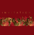 gold and red geometric tropical pattern vector image vector image