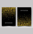 gold banners greeting card or flyers design vector image vector image