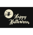 Happy Halloween banner or greeting card vector image vector image
