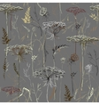herbal pattern autumn vector image