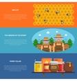 Honey Banners Set vector image vector image
