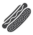 hot dog glyph icon food and drink fast food vector image