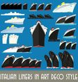 Italian Liners in Art Deco Style vector image