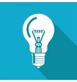 lightbulb blue icon Eps10 vector image vector image