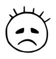 line emoticons icon sad emoji a gloomy smiley vector image vector image