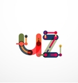 Line letter design vector image vector image