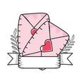 love valentines envelope cartoon vector image vector image
