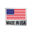 made in usa silver frame icon american flag vector image vector image