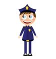 man agent police character avatar vector image vector image