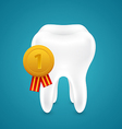 Medal for the cleanest tooth vector image vector image