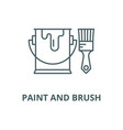 paint and brush line icon linear concept vector image vector image