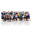 people crowd reflect vector image vector image