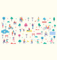 people park icons collection vector image