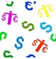 Person Compare Euro Dollar Flat Seamless vector image vector image